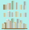skyscraper offices flat business buildings set vector image vector image