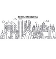 spain barcelona architecture line skyline vector image vector image