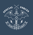 special forces right on target vector image vector image