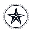 star fish emblem isolated vector image