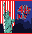 statue liberty nyc usa symbol usa flag vector image
