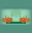 tropical paper palm leaves and flowers frame vector image vector image