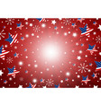 usa background design of america flag in star and vector image vector image