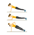 Woman Making Right Plank Position vector image
