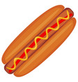 colorful hotdog fast food icon poster vector image