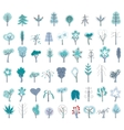Set with different winter trees on white For your vector image