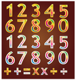 Gold number design vector image