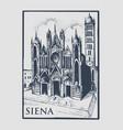 gotical church in siena tuskany italy old vector image