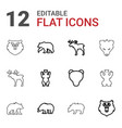12 alaska icons vector image vector image