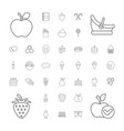 37 sweet icons vector image vector image