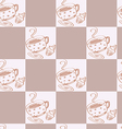 a seamless coffee pattern vector image
