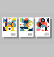 abstract geometric graphic design templates vector image vector image