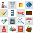 Accounting finance square 15 icons vector image vector image