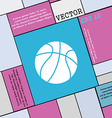 Basketball icon sign Modern flat style for your vector image