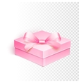 Blank box over white background vector image