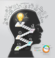 Businessman thinking idea lightbulb conceptual vector image vector image