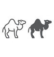 camel line and glyph icon arab and animal mammal vector image