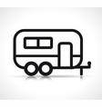 caravan icon vector image vector image
