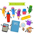 cartoon 3d characters of school writing vector image