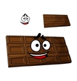 Cartoon chocolate dessert vector image vector image