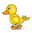 Cartoon of a rubber duck ule isolated on white bac vector image