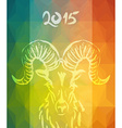 Chinese new Year of the Goat 2015 colorful card vector image vector image
