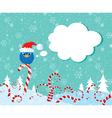 christmas candy bird vector image vector image