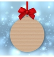 Christmas tree decoration Mockup tag sticker vector image