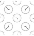 clock icon seamless pattern time icon vector image vector image