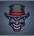 clown head mascot logo design vector image