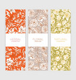 collection vertical floral backdrops or banners vector image vector image