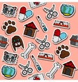 Colored veterinary pharmacy pattern vector image vector image