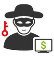 computer thief icon vector image