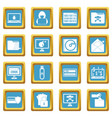 criminal activity icons azure vector image vector image