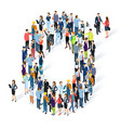 crowded isometric people alphabet vector image