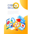 cyber security - modern colorful isometric web vector image