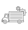 delivery truck with gears vector image