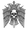 Eagle crest with skull coat arms