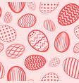 easter egg seamless pattern red color holiday vector image vector image