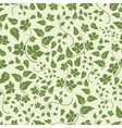 Eco seamless pattern with green leaves vector image vector image
