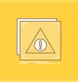 error application denied server alert flat line vector image