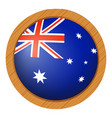 flag icon design for australia vector image vector image