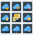 Flat style icon set for web and mobile application vector image vector image