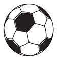Fudbalska loptabbb vector image vector image