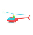 goodly toy of color helicopter vector image vector image