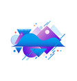 gradient blue and violet shapes and textures vector image vector image