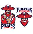 half body pirate mascot vector image