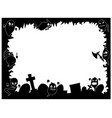 halloween frame with cute ghost silhouettes vector image