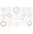 Hand drawn framewreath setColored Doodle decor vector image vector image