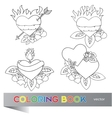 Heart Tattoo Design - coloring book vector image
